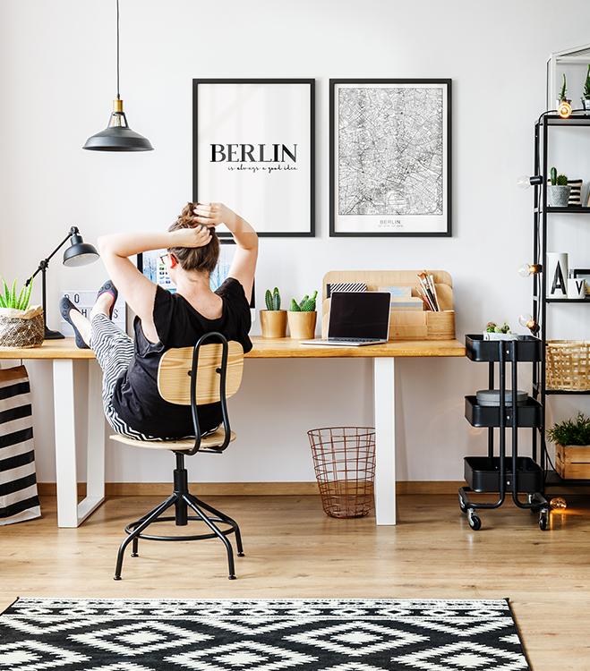 Posterset incl. frames - Berlin is always...