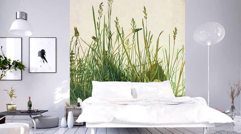 Behang slaapkamer shop wall - Behang patroon voor de slaapkamer ...